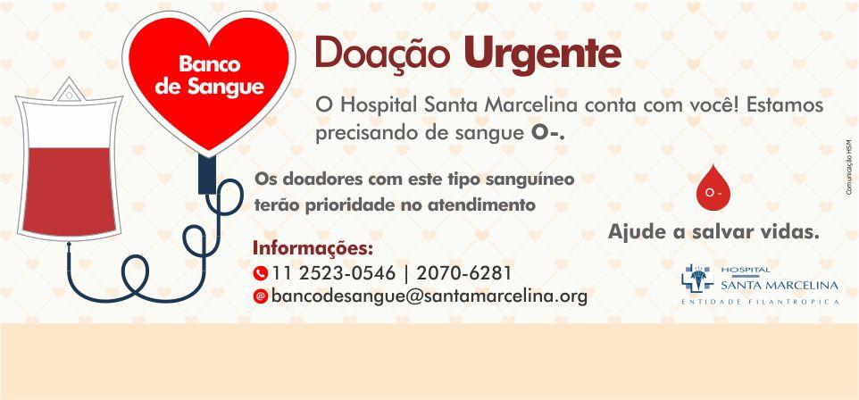 Ajude nosso Banco de Sangue <br />