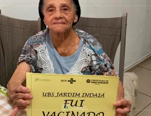 UBS – Unidades de Saúde iniciaram a imunização dos usuários idosos acima de 90 anos.